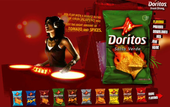 Doritos Interactive Web Media experience special effects